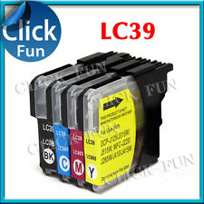 4x Ink LC39 LC39BK CL39C LC39M LC39Y LC985 for Brother DCP J315W J515W MFC-J125