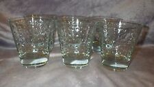 Clear Glass Whiskey Old Fashioned Glasses molded square design 6 12 ounce glasse