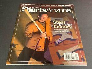 Luis Gonzalez Arizona Diamondbacks Autographed Signed Sports Arizona Magazine