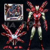 "ZD TOYS Armored MK85 Iron Man Avengers Endgame Marvel 7"" Action Figure Toys"