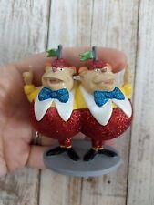 Disney store Alice Wonderland Cake Topper Figure Twiddle Dee Dum glitter euc