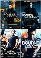 The Bourne 1-4 Complete Collection 1 2 3 4 Identity, Supremacy, Ultimatum UK DVD