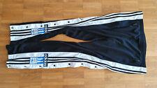 ADIDAS Adibreak Hose vintage Trainingshose mit Knöpfen # schwarz/blau # Größe D7