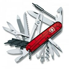 Victorinox Cyber Tool 41 Swiss Army Knife Transparent Red