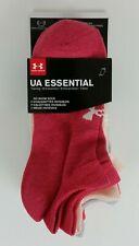 Under Armour 6 Pairs Women UA Essential No Show Sock Size 6-9 (3 color options)