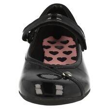 """Clarks 'DOLLY Babe """"filles Noir Cuir Verni École Chaussures taille 7D"""