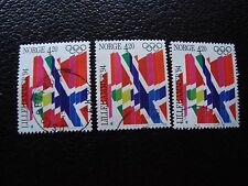 NORVEGE - timbre yvert et tellier n° 1063 x3 obl (A30) stamp norway