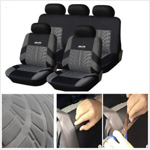 9Pcs/ Set Stretchable Washable Embroidery Car Seat Covers Fit Most Brand Vehicle