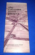 Vintage 1971 The Columbia Basin Project, Washington State, Dept Inter Brochure