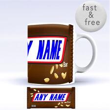 Snickers Personalised Funny Mug Gift Chocolate Coffee Tea Mug Birthday Cup