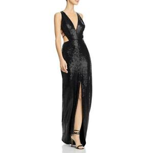 Aidan by Aidan Mattox Womens Metallic V-Neck Evening Formal Dress Gown BHFO 6649