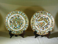 Chinese Qing Dy c1850 Daoguang Reign Hand Painted Thousand Butterflies Pair