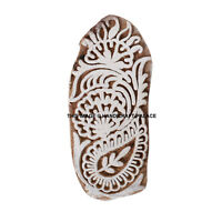 Hand Carved Wooden Printing Blocks Indian Textile Fabric Paisley Stamps