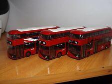 3 CORGI TOYS NEW ROUTEMASTER HYBRID FOR LONDON BUSES