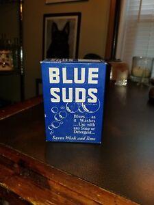 Vintage 1940s NOS Sample Box Blue Suds Detergent Detroit Michigan 2 3/4 ounces
