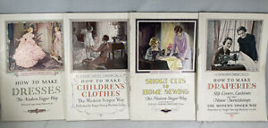 VTG Set of Singer Sewing Library of instruction manuals Printed 1927-32