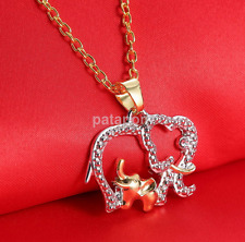 Fashion Women Girls Jewelry Crystal Elephant Necklace Pendant Chain Charm Gift