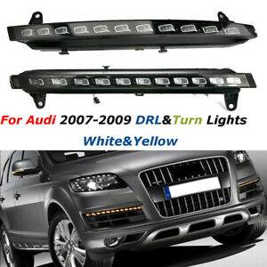 LED Daytime Running Light DRL Driving Fog Lamp & Turn Signal for Audi Q7 2007-09