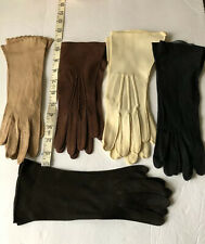 Vintage Leather Gloves Size 6.5 : Lot Of 5: Soft Suede Leather