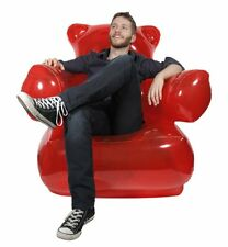 Thumbs Up INFLABLE GUMMY CHAIR Red Gummy Bear with Pump LOUNGER Adult