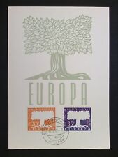 Saar MK 1957 402/403 EUROPA CEPT maximum carta carte MAXIMUM CARD MC cm c9864