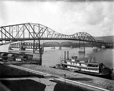 NEW Photo Historic Winona bridges over the Mississippi,  Winona, Minnesota 1898