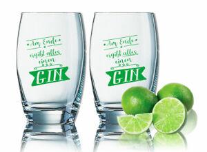 2er Sparset Gin Tonic Gläser - Am Ende ergibt alles einen GIN  Gingläser 35cl