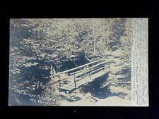 1906 RPPC Foot Bridge Purgatory Mt. Vernon NY Westchester County