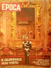 EPOCA 1107 1971 24 pagine dedicate al Quirinale