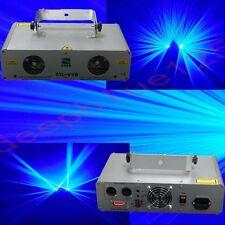 2 Lens 1500mW Blue  DMX Laser Light Disco DJ  Stage Party Lighting