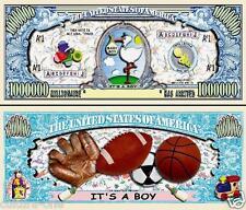 Fare Ccl Nascita Ragazzo: Banconota Della Collezione Million Dollaro US! Bambino