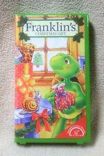 FRANKLIN'S CHRISTMAS GIFT Vhs Video Franklin Turtle Paulette Bourgeois Nelvana