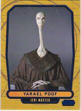 STAR WARS GALACTIC FILES SERIES 1 BLUE PARALLEL #29 YARAEL POOF 026/350