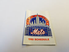 New York Mets 1993 MLB Baseball Pocket Schedule - Met Life Snoopy Batter