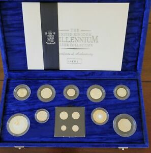 2000 Millennium 13 Silver Coin proof collection with Maundy set excellent