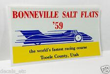 BONNEVILLE SALT FLATS '59  Vintage Style DECAL, Vinyl STICKER, rat rod, racing