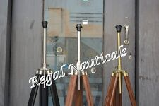 Nautical Lamp Shade Stand Teak Wood Floor Lamp Use Tripod Lamp Home Decor