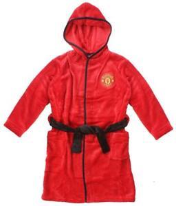 Mens Manchester United dressing gown / hooded bathrobe (Man Utd robe pajamas pjs