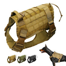 Military Tactical K9 Dogs Harness for Large Big Dogs No Pull Molle Training Vest