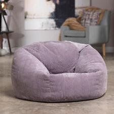 Luxury Microplush Cord Bean Bag X Large Adult Bean Bag Chair  HEATHER PURPLE