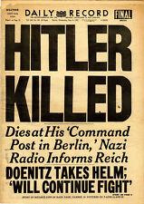 "Incorniciato stampa - ""Hitler uccise"" GIORNALE CLIPPING (picture poster guerra mondiale 2)"