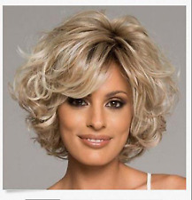 2018 Stunning Mix Blonde Synthetic Curly Short Women Wig Hair H175