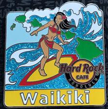 2019 Hard Rock Cafe Waikiki Honolulu Hawaii SEXY SURFER PIN LE 300 Glitter Wave