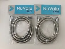 2 X 48'' Inch Long Bathroom Flexible Replacement Shower Hose-Chrome Plates