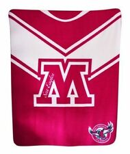 NEW LARGE Licensed NRL Manly Sea Eagles Rugby League Polar Fleece Throw Blanket