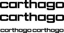 CARTHAGO 4 pièces Kit Caravane camping car Autocollant couleurs au choix #1