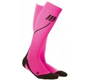 CEP Progressive Compression Run Socks 2.0, Womens Size II, Pink/Black, NIB