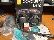Nikon COOLPIX L610 16.0MP Digital Camera + Box + SD Card