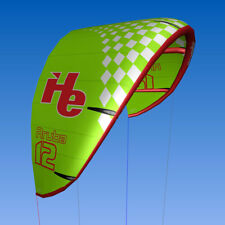 New 12m2, flyHelium Aruba kiteboarding Kite (Green). Ideal for all levels.