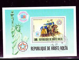 BURKINA FASO #C244  1976  AMERICAN BICENTENNIAL    MINT  VF NH  O.G  S/S  CTO  a